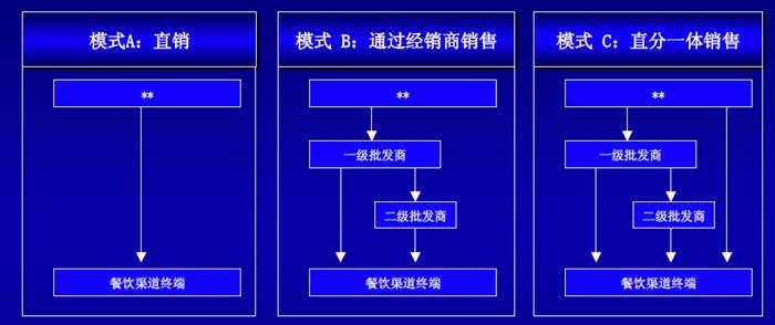 渠道体系规划设计部分模型2